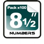 "8.5"" Race Numbers - 100 pack"